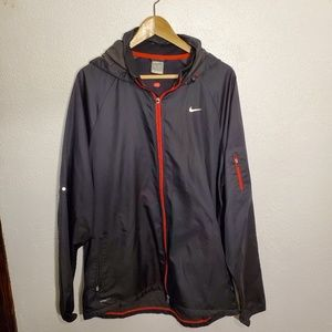 Mens grey with red zipper Nike FITSTORM jacket xl